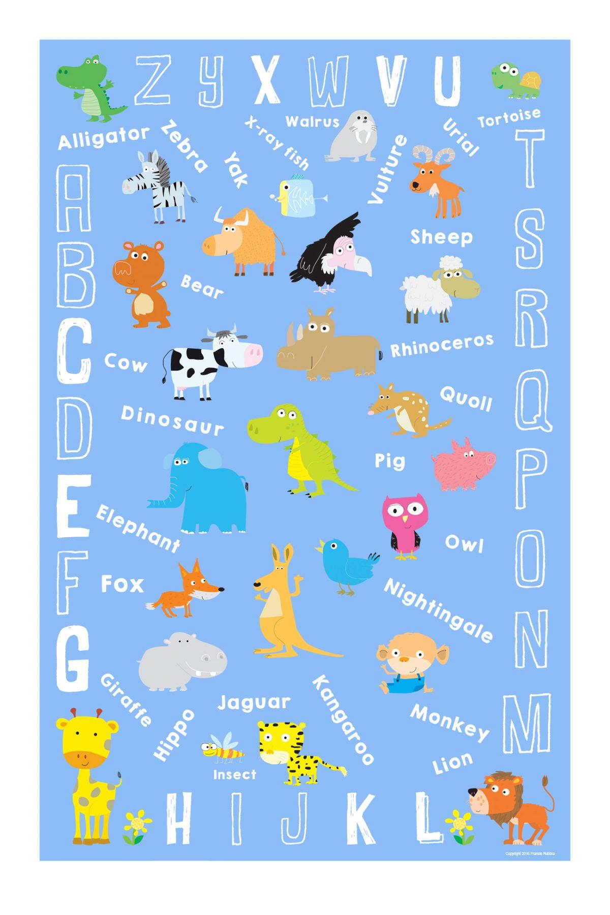 Alphabet poster for nurseries